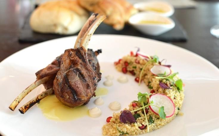 Lamb chops with Quinoa
