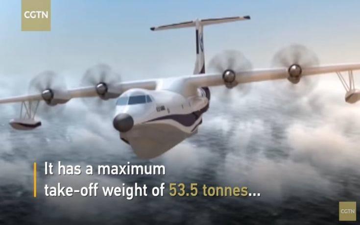 Πρώτη πτήση για το μεγαλύτερο αμφίβιο αεροσκάφος στον κόσμο