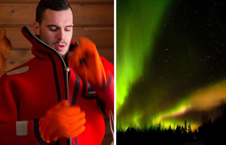 Δείτε το Βόρειο Σέλας επιπλέοντας με ειδική στολή σε παγωμένη λίμνη!