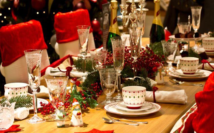 table christmas dining tabel xmas dinner 1