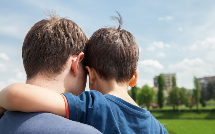 bigstock Father And Son On A City Backg 65170369