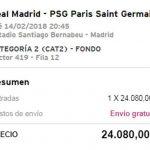 Εξωφρενικές τιμές στα εισιτήρια του Ρεάλ Μαδρίτης - Παρί Σεν Ζερμέν