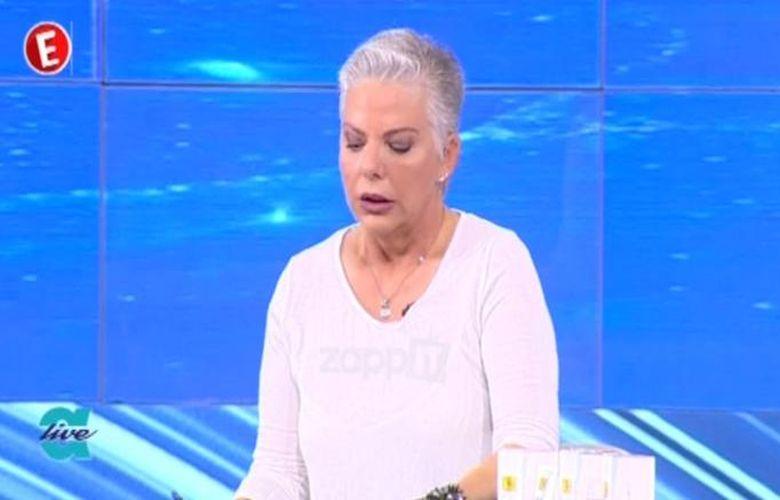 Η  Νανά Παλαιτσάκη έμαθε στον αέρα της εκπομπής τον θάνατο του πρώην συζύγου της
