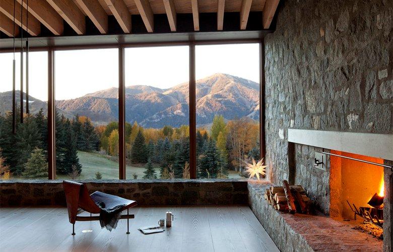 To μαγικό χειμερινό εξοχικό που λατρεύει το ορεινό τοπίο