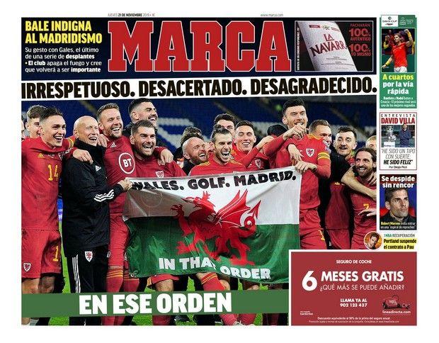 Ρεάλ: Η Marca έβγαλε στη σέντρα τον Μπέιλ με τρομερό πρωτοσέλιδο