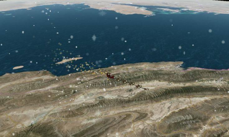 Ο Άγιος Βασίλης μοιράζει τα δώρα του και αστροναύτες μας βοηθούν να τον ελέγχουμε