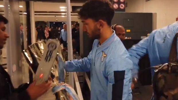 Λάτσιο: Το τρόπαιο του Supercoppa πέρασε από έλεγχο στο αεροδρόμιο
