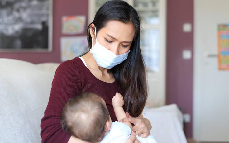 Κορονοϊός και εγκυμοσύνη: Προτείνεται ο θηλασμός στις μητέρες που έχουν Covid-19