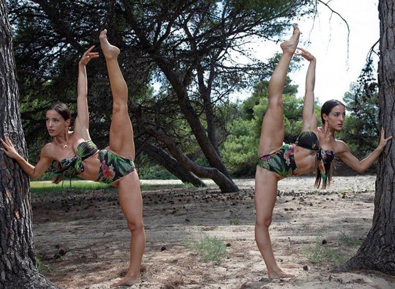 Οι δίδυμες Ελληνίδες χορεύτριες με τα εκπληκτικά ανοίγματα