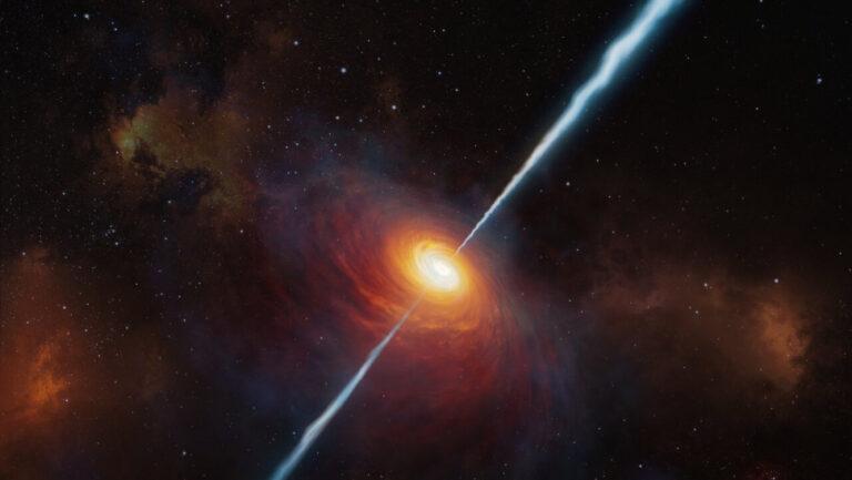 Ανακαλύφθηκε ο πιο μακρινός «ραδιοφάρος» στο σύμπαν – Ένα πολύ φωτεινό κβάζαρ